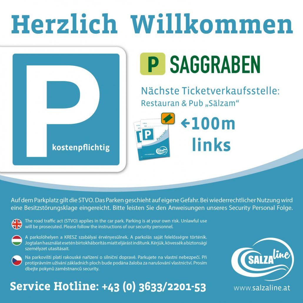 Salzaline - Parkplatz Saggraben